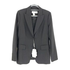 Max Mara Black Wool Two Button Blazer NEW Size 10